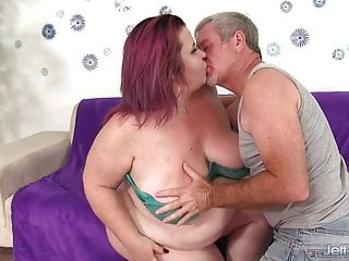 Railed ass Fat mature redhead lady lynn gets her plump pussy railed