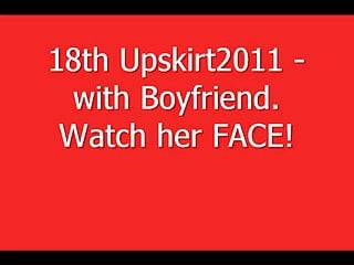 Vintage helbros womans closed face watch - 18th upskirt2011 - with boyfriend. watch her face