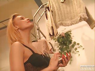 Baseball shopped vintage Katalina natalie in the lesbian shop