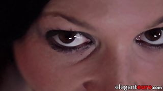 Babe housekeeper ass fucks for interracial cum in mouth