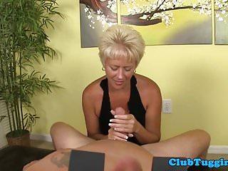 Between dick her tit Teasing milf sliding dick between bigtits