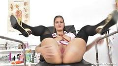 Nurse Emily has fun with herself!