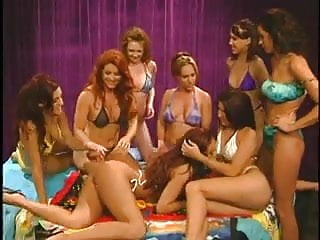 Lesbian group sex pics - Redheaded milf in lesbian group sex