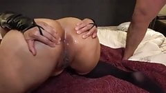 Unbelievable anal creampie