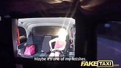 Fake Taxi Sexy blonde in tight denim shorts and fishnets