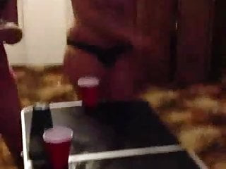 Lesbian college girls stripping College girls lose strip pong