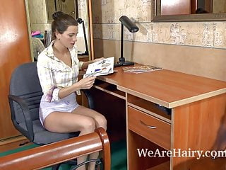 Very hairy human females Hairy girl angelica l learns about human nature