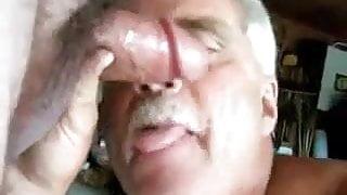 Daddy sucking a big cock