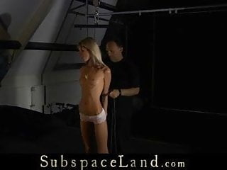 Bondage discipline video Skinny slave girl painful disciplined
