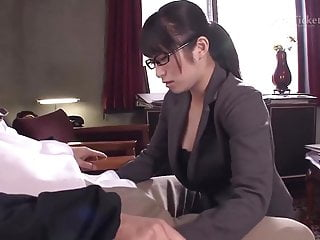 Asian secretaries porn - Nana kunimi sucks boss cock uncensored jav