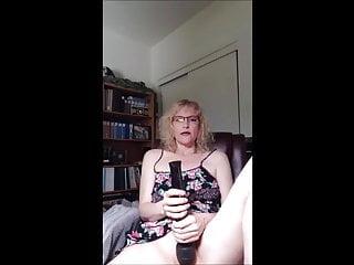 Blonde wife fucked till orgasm Hot milf with glasses masturbating till orgasm
