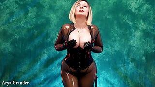 Sexy latex and natural big boobs compilation by Arya Grander