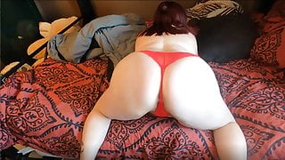 Sexy BBW Sold Red Panties with piss
