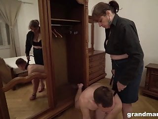 Big tits boss bossy booty Bossy granny owns two slaves