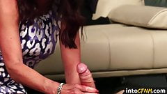 British CFNM dommes blowing cock in taboo group