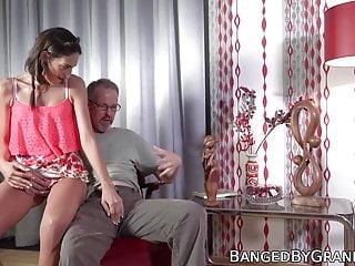 Beauty and senior tgp Young beauty earns facial by riding seniors hard cock