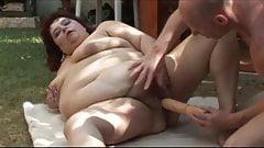 Fat Piggy Fucked In The Backyard