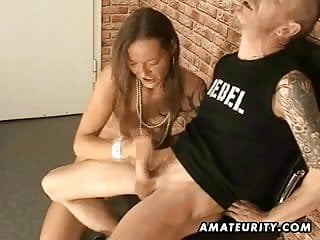 Footjobs cumshot - Amateur handjob footjob and blowjob with facial cumshot