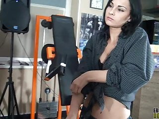 Mistress asian trample - Slave gets trampled by his petite brunette mistress