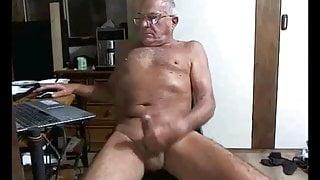 old man cums