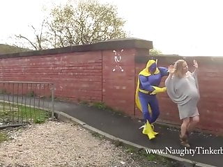 Banana porn Preggo blonde milf fucked in ass by bananaman and big banana
