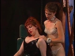 Pussy whipped crossdresser - Redhead gets pussy whipped and clamped