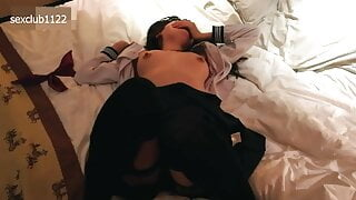 Sexy Chinese student is extremely horny and gets banged hard