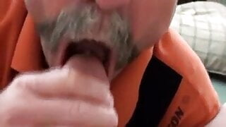 Mustached Daddy BLOWJOB & CUM