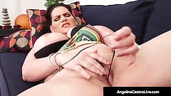 Cuban Sex Goddess Angelina Castro Pounds Her Plump Pussy!