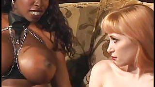 2 Ebony Godesses Dominate a White Sub