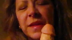Amateur Mature Wife Sucks-Off Squirting Dong