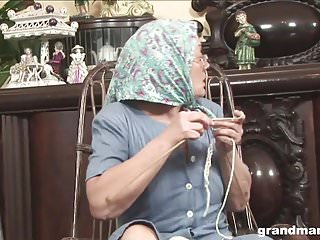 Vintage knitting crochet - Knitting 70-year-old grandma fucks and sucks like a champ