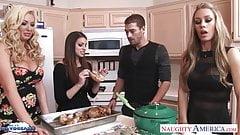 Горячие милашки Brooklyn Chase, Nicole Aniston и Summer Brielle