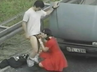 Pee on road Public sex with prostitute on road