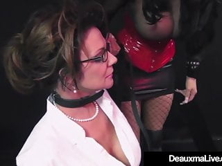 Fat beaten slut Caged cougar deauxma beaten by beautiful busty louise jenson
