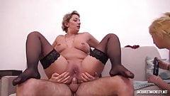 Sexy French Cali milf dominates Zelia in threesome