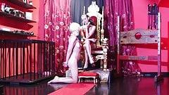 Lesbian Mistress - Human Ashtray Humiliation