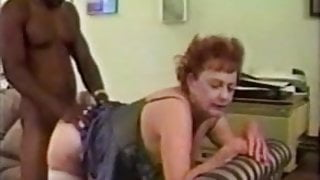 65 yo granny enjoys a big black cock