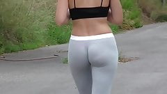 spandex booty and no panties