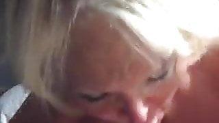 Old granny gives a crazy good blowjob