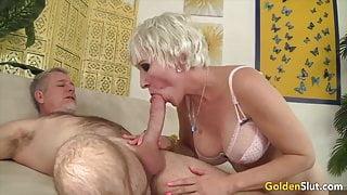 Golden Slut - Busty Aunties Perform Oral Sex Compilation