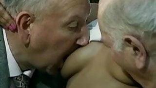 Old white men fuck black chicks