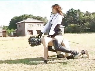 Boot fetish play Asian pony play boot lover