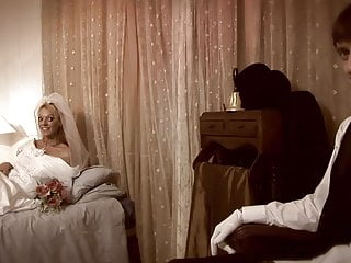 Vintage mens grooming - Groom likes to watch as conciege satisfies his new blonde bride