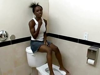 Perfect body for teens - Cute black teen perfect body fucks in toilet fhd