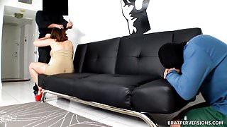 Submissive Cuckold's Wife Fucks a Stranger