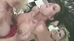 Lesbian double fuck with strapons