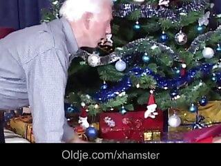 Busty mature senior woman fucking - Lucky grey senior fucks his hot christmas present