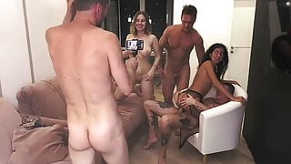 Juicy bisexual orgy with fucking guys