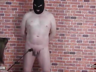 Ball busting cock free video - Mistress tiff spanks slave then ball busts and tramples cock